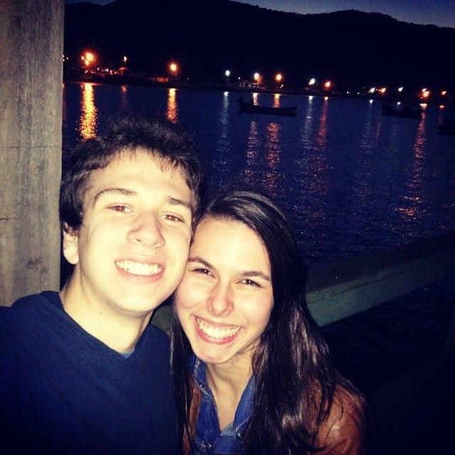 Thabata et Daniel étudiants brésiliens